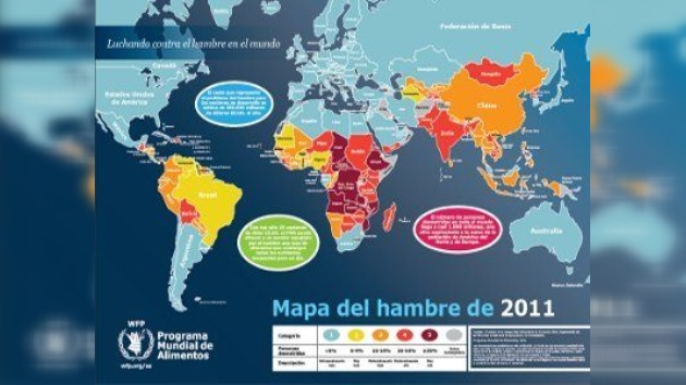 La ONU presentó el mapa mundial del hambre