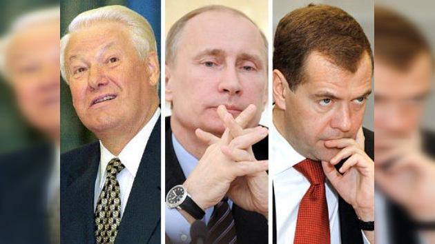 Tres presidentes que han marcado la historia reciente de Rusia