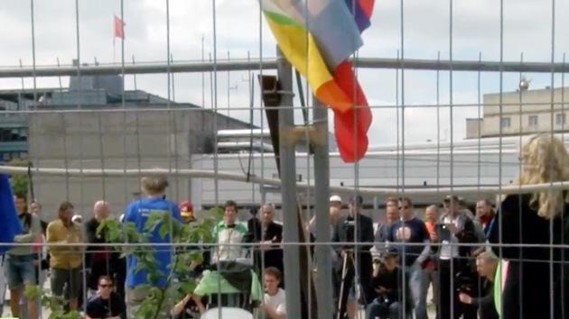Protesta en Dinamarca contra el secretismo del club Bilderberg