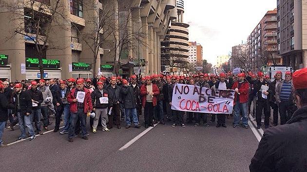 España: Los trabajadores de Coca-Cola se declaran en huelga contra los despidos