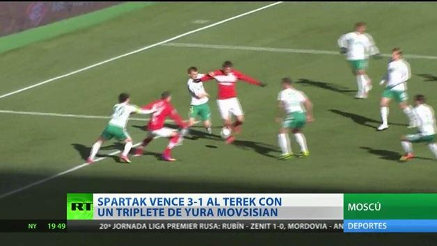 El Spartak de Moscú se impuso al Terek en la Premier Liga rusa
