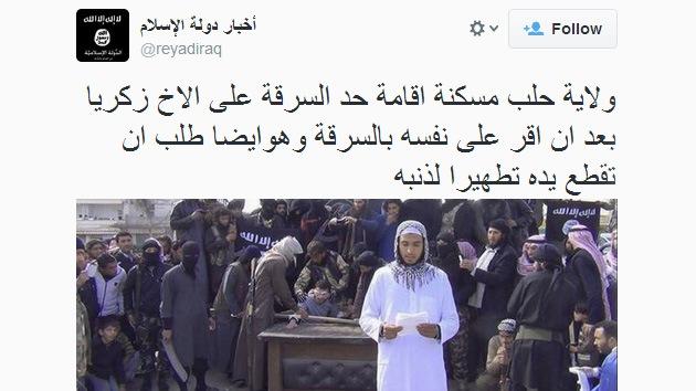 Radicales sirios le cortan la mano y lo tuitean