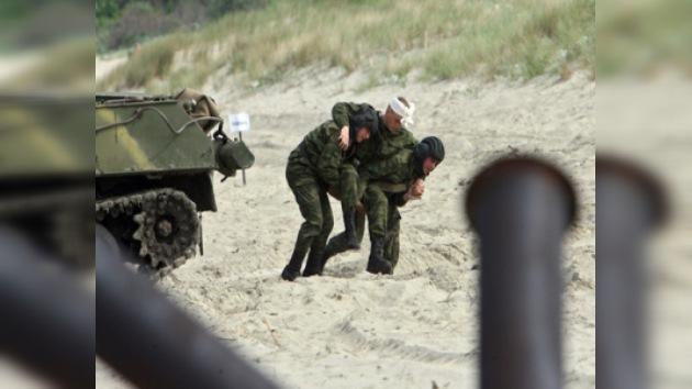 Incendio en un polígono militar ruso