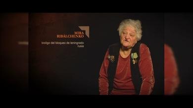 """""""TESTIGOS DE LA GUERRA"""". Mira Ribálchenko : Testigo del bloqueo de Leningrado. Rusia"""