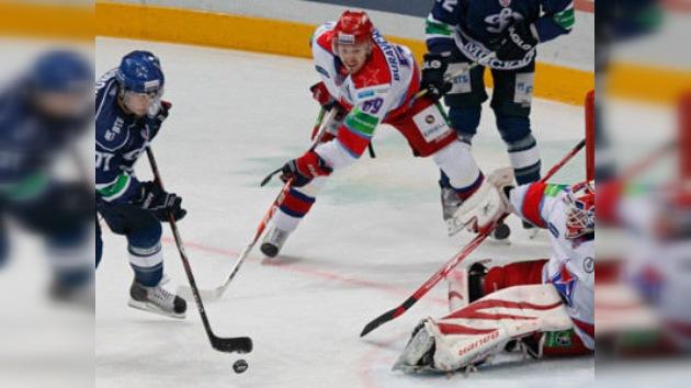 El Dinamo vence al CSKA por 2 a 0 en la Liga Continental de Hockey