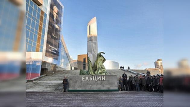 Un monumento conmemora el 80.º aniversario del nacimiento de Borís Yeltsin