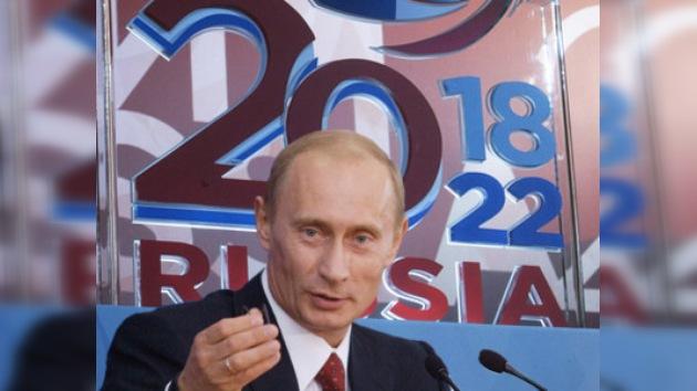 Putin podría presentar solicitud rusa para acoger el Mundial 2018