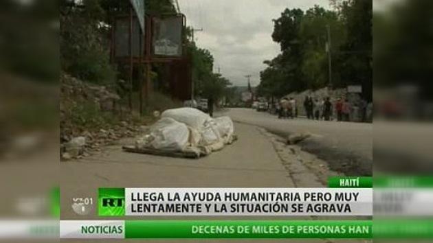 El retraso de la ayuda provoca tensiones entre la población de Haití