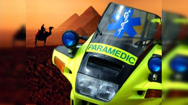 Un egipcio inventó una 'moto-ambulancia'