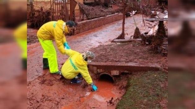 La planta húngara todavía contamina el río Marcal con residuos tóxicos