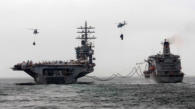 La armada de EE.UU. y sus aliados maniobran en las barbas de Irán