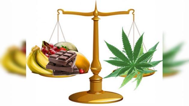 La comida deliciosa es equiparable a las drogas