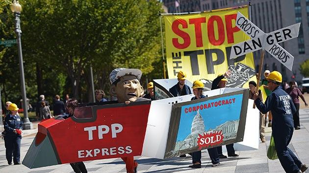 """Día de protesta contra el """"golpe corporativo"""" del Acuerdo de Asociación Transpacífico"""