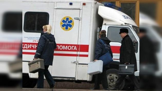 Una bombona de gas estalla en un tren en Ucrania