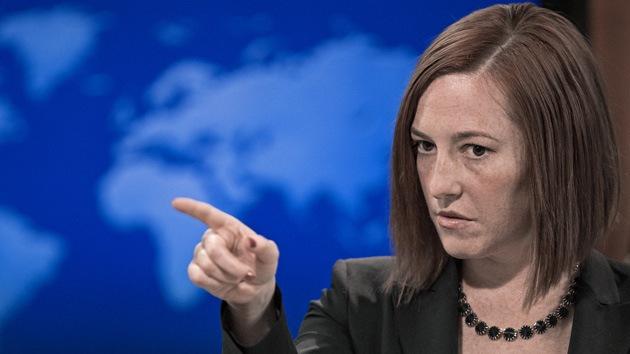 Canal ruso responde a Jen Psaki acerca de sus periodistas detenidos en Ucrania