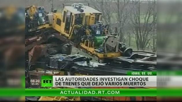 Mueren dos tripulantes en un accidente ferroviario en Iowa