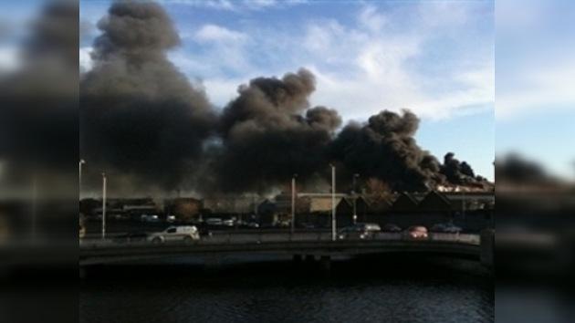 Incendio en la fábrica de Guinness