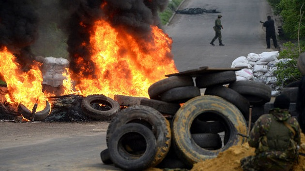 Tropas ucranianas empiezan un ataque con artillería en Slaviansk