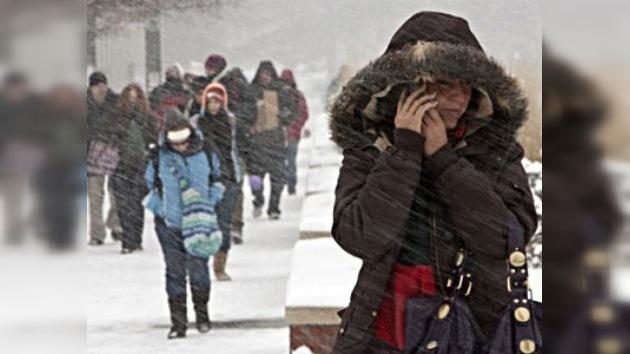 EE.UU. y Europa sufren fuertes nevadas por una ola de frío