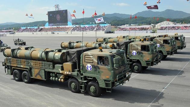 Fotos: Corea del Sur presenta sus misiles diseñados para atacar Corea del Norte