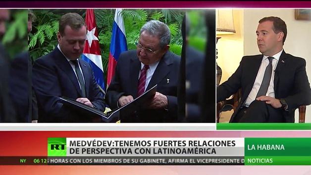 """Medvédev: """"Estamos en América Latina con fines serios y por mucho tiempo"""""""