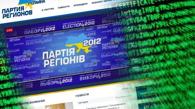 El partido gobernante de Ucrania denuncia un ataque a su web el día de las elecciones