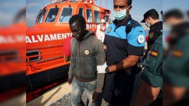 Marejada de inmigrantes en la ciudad española de Ceuta