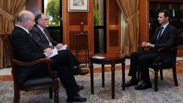 "Bashar al Assad: ""Cuando un barco se enfrenta a una tormenta, el capitán no huye"""