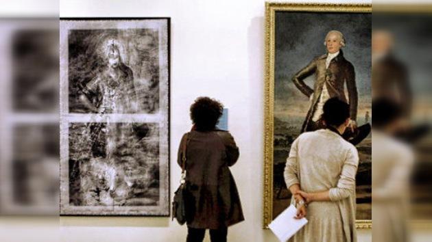Bajo el retrato de Jovellanos, Francisco de Goya pintó a una mujer