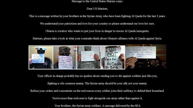 """""""Unión entre Obama y Al Qaeda"""": Atacan el sitio web de los marines de EE.UU."""