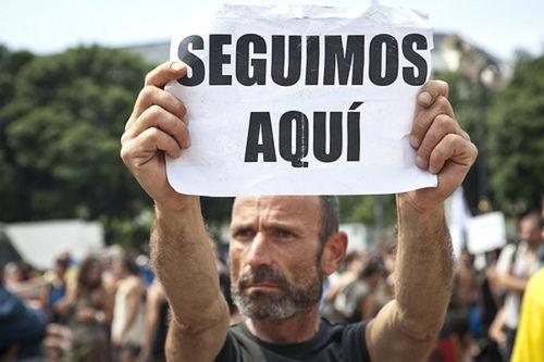 El desalojo de los 'indignados' en Barcelona