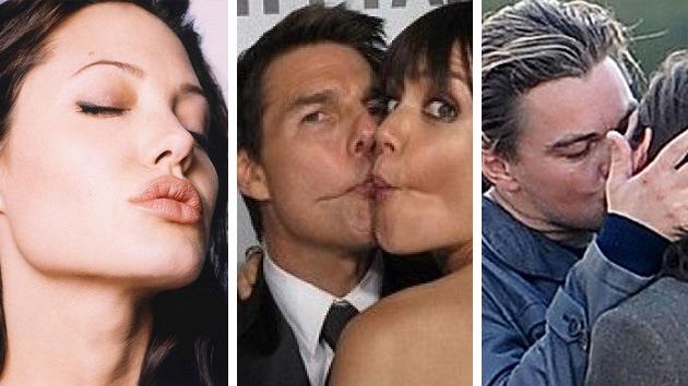 Algunas de las estrellas más deseadas de Hollywood son las que peor besan