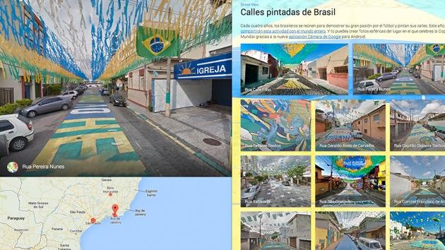 Video: Google invita a un paseo por las calles pintadas de Brasil en vísperas del Mundial