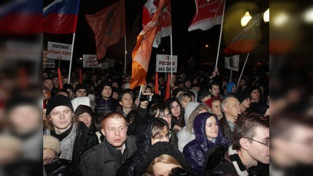 Manifestaciones en las calles de Moscú tras los comicios parlamentarios