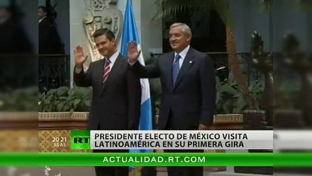 Presidente electo de México visita Latinoamérica en su primera gira