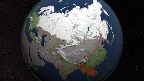 El mundo en llamas: imágenes de incendios tomadas desde un satélite