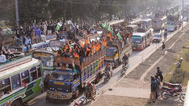 Islamabad refuerza la seguridad ante la llegada de una marcha multitudinaria