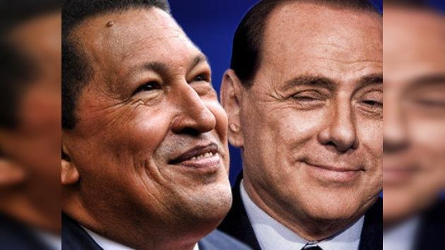 Berlusconi ofrece apoyo financiero a Chávez