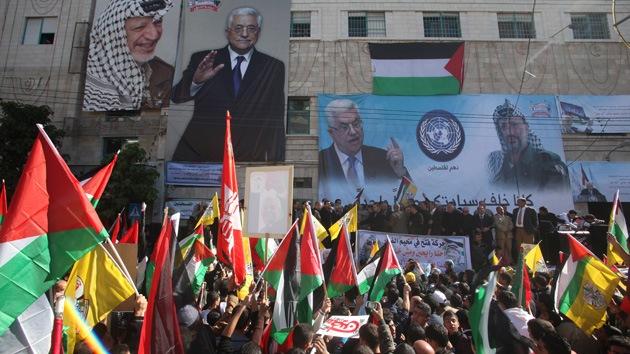 Video: Gran marcha en Palestina a favor de la elevación del estatus en la ONU