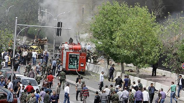 Una fuerte explosión sacude el centro de Damasco
