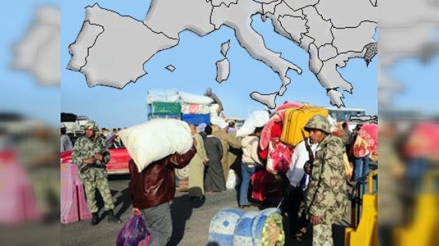 Países mediterráneos 'asustados' ante eventual éxodo de ciudadanos libios