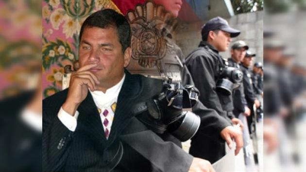 El comandante policial niega que Rafael Correa esté secuestrado