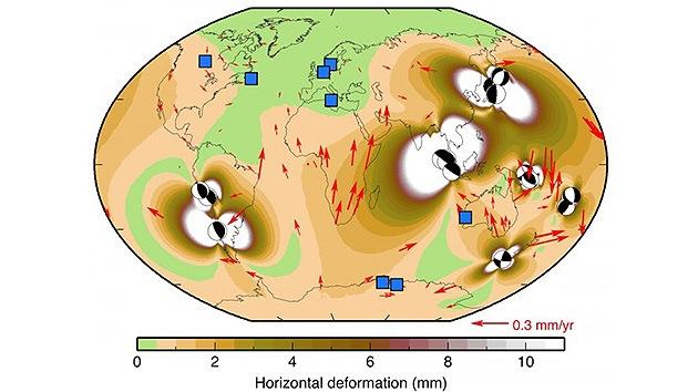 Los grandes terremotos causan errores en el GPS