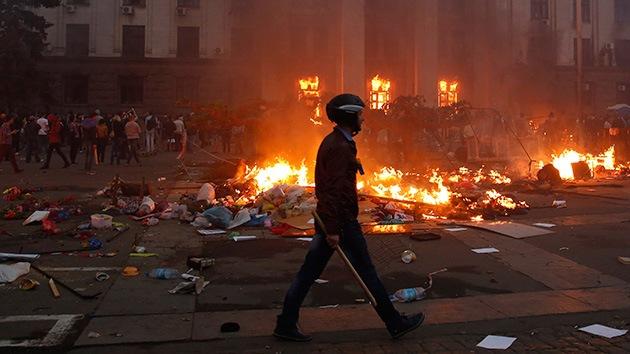 """La tragedia de Odesa """"recuerda a métodos fascistas"""""""