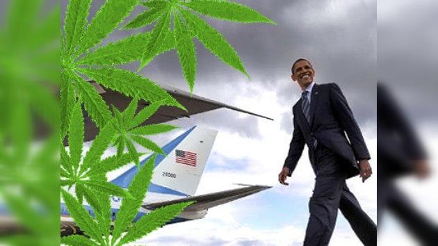 Obama no despega por culpa del hachís