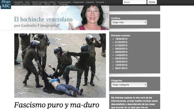 Corresponsal de 'ABC' usa imágenes de Egipto para ilustrar protestas en Venezuela