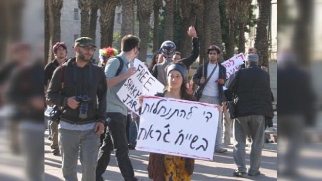 Cientos de manifestantes contra las colonias de judíos en Jerusalén