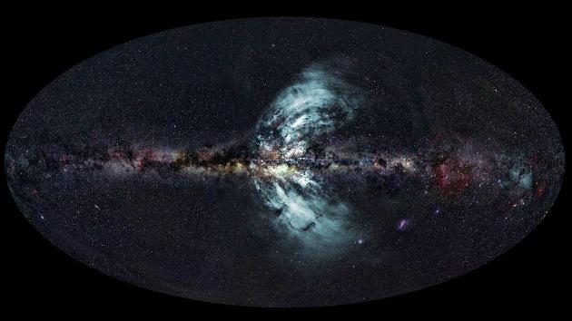 Una gigantesca fuente de rayos gamma emana del corazón de nuestra galaxia
