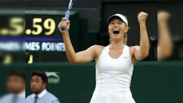 Wimbledon: Sharápova barre a Cibulkova y se mete en semifinales