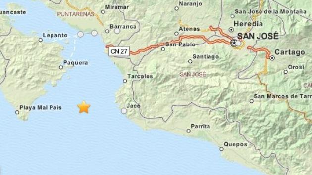 Un sismo de magnitud 5,2 sacude el oeste de Costa Rica